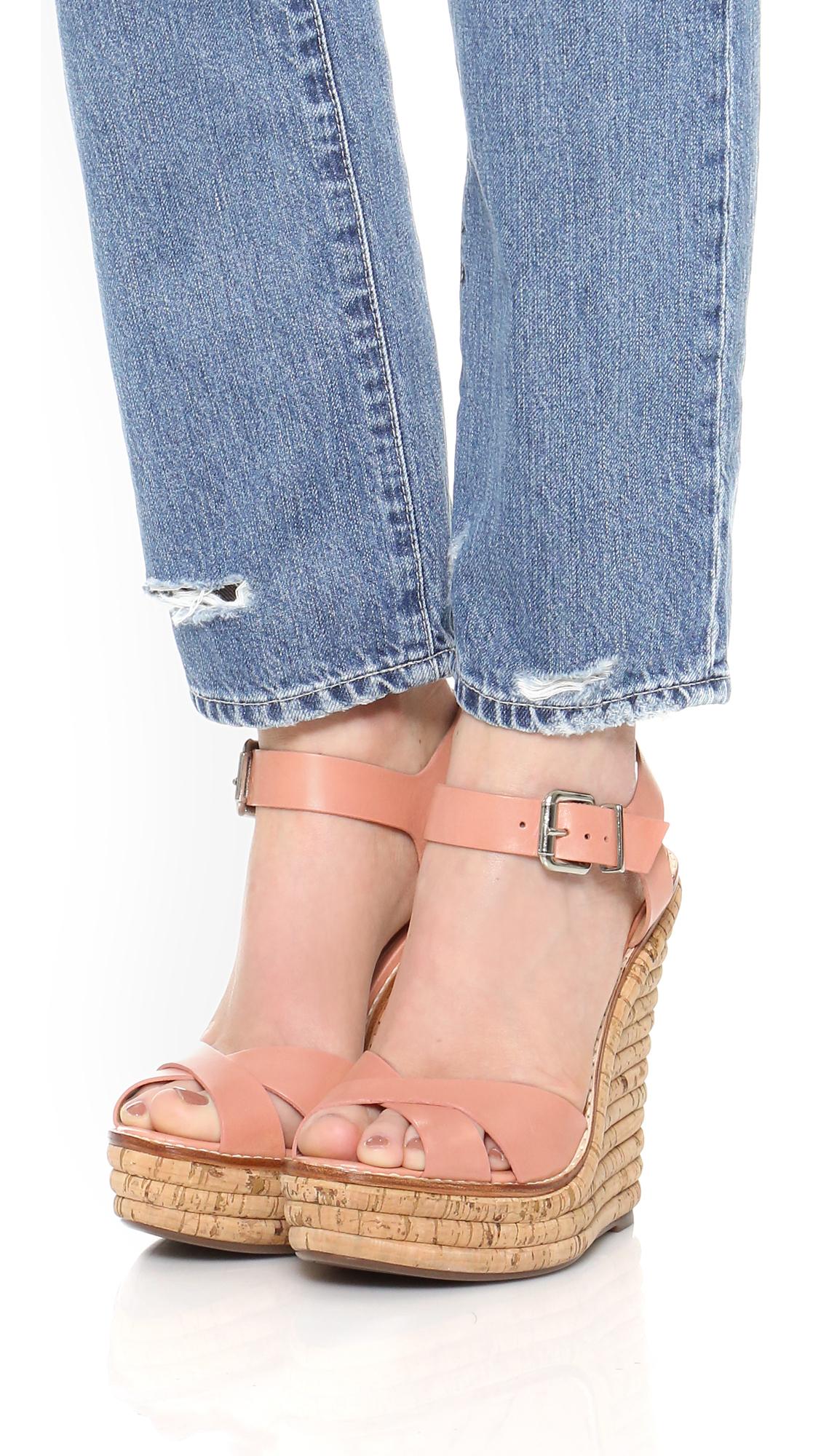 Lyst Schutz Francine Wedge Sandals In Pink