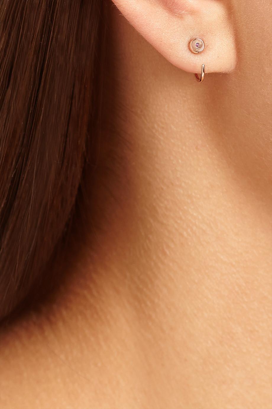 Melissa Joy Manning 14-karat Gold Ruby Earrings XUXQ3UUps