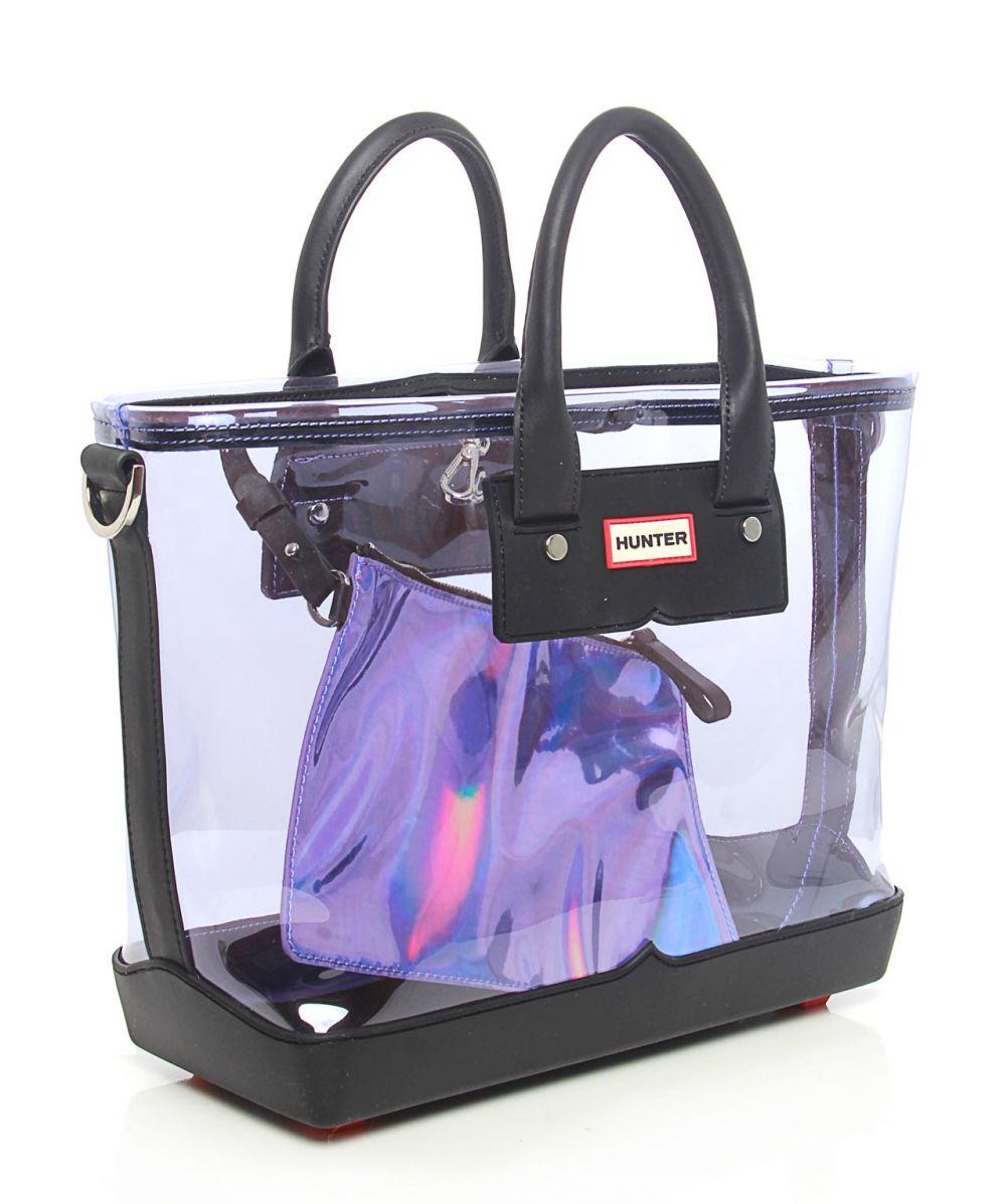 hunter original medium tote bag in transparent purple lyst. Black Bedroom Furniture Sets. Home Design Ideas