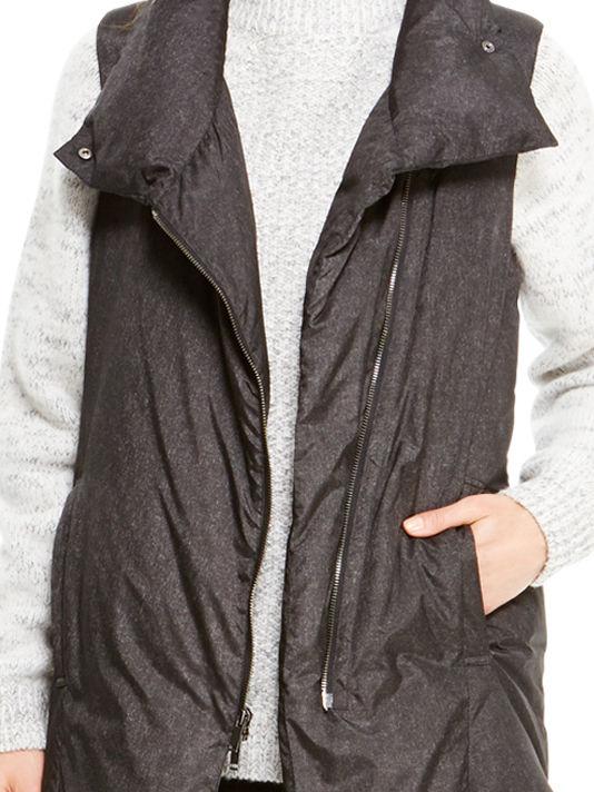 Vest Pure Puffer Black Women's Long rCxeBdoQW