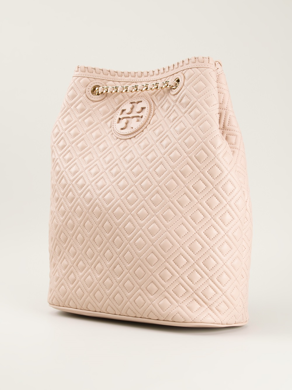 Tory Burch Marion Quilted Backpack In Pink Lyst