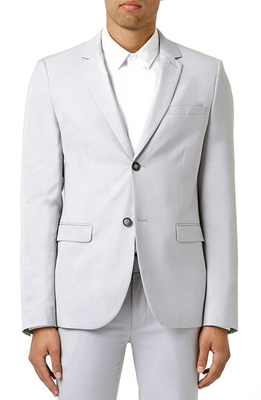 Topman Ultra Skinny Fit Light Grey Suit Jacket in Gray for Men | Lyst