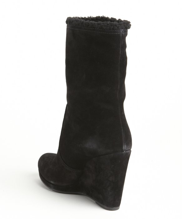 best sale online outlet supply Prada Shearling Wedge Boots 8Ox5r