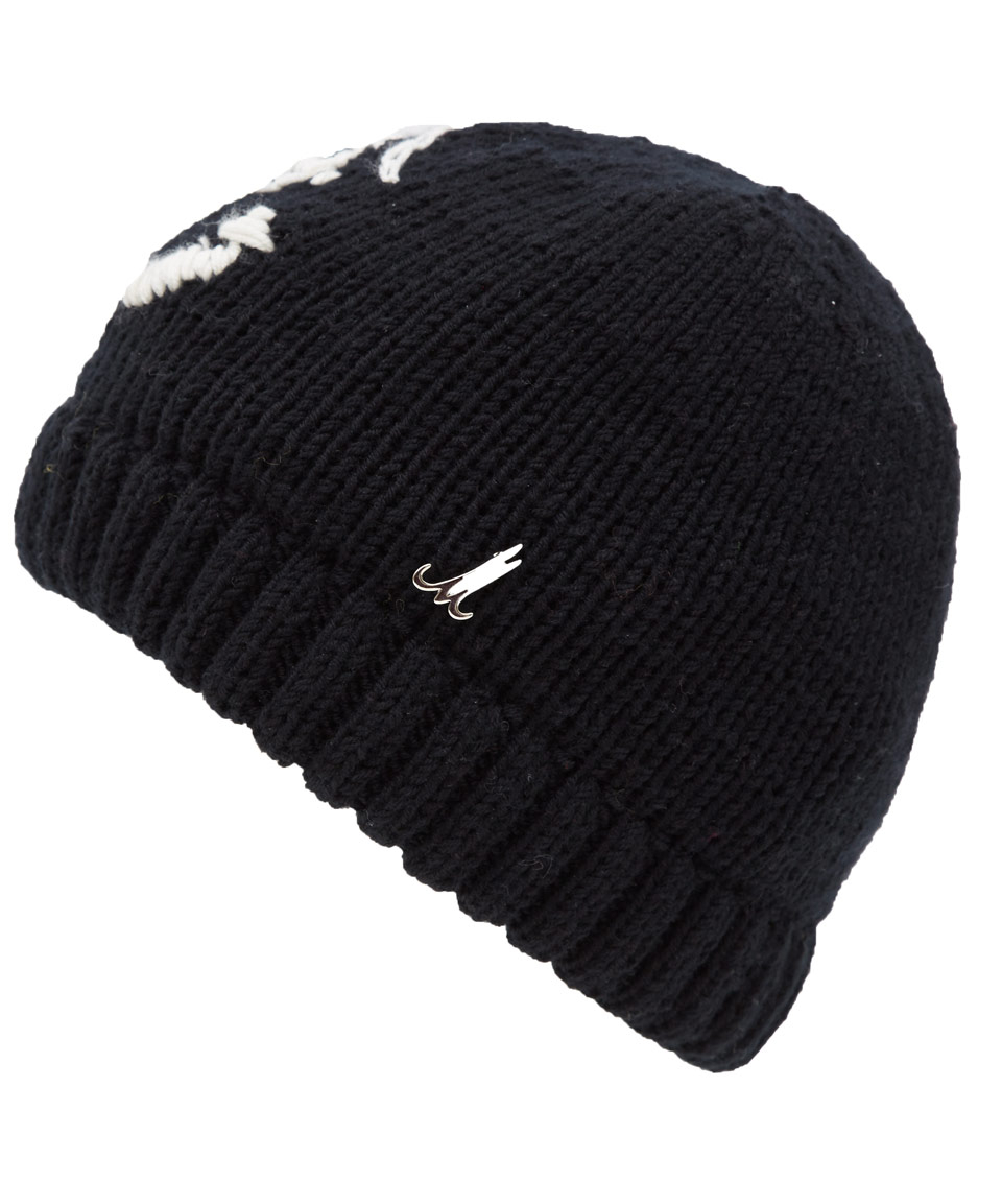 5577a870d Muhlbauer Black Baby Merino Wool Knit Hat in Black for Men - Lyst