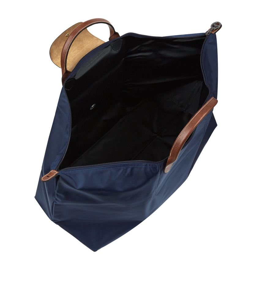 Longchamp Le Pliage Extra Large Travel Bag In Blue For Men