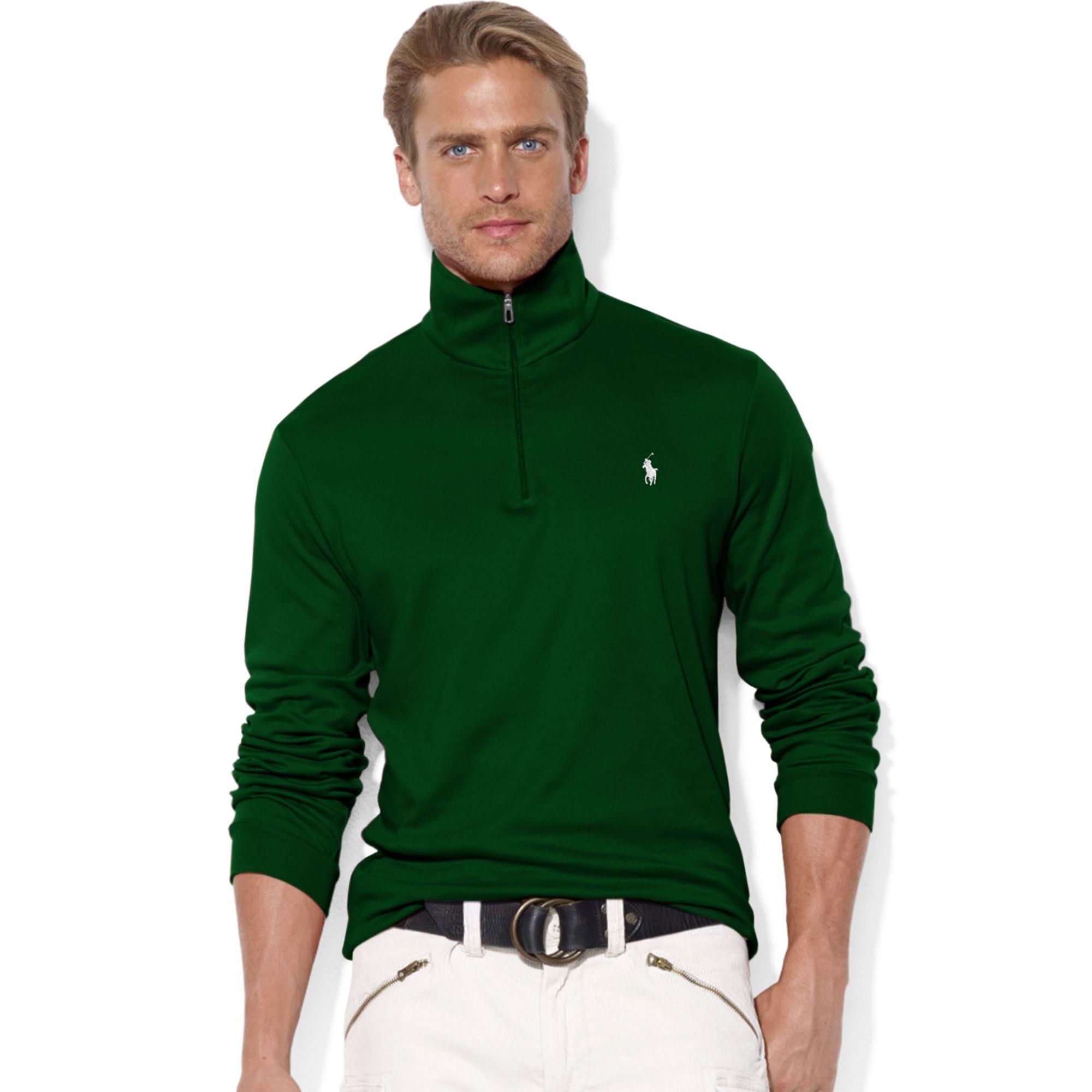 Ralph Lauren Rlx Halfzip Mock Neck Compact Fleece Pullover
