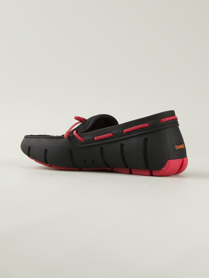 40dc6e678994a Swims Braided Lace Driving Shoes in Red for Men - Lyst