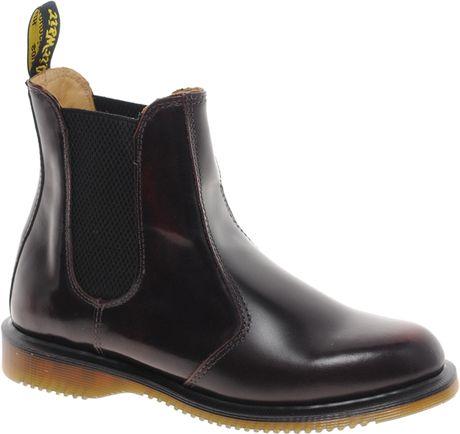 dr martens kensington flora burgundy chelsea boots in black cherryred. Black Bedroom Furniture Sets. Home Design Ideas