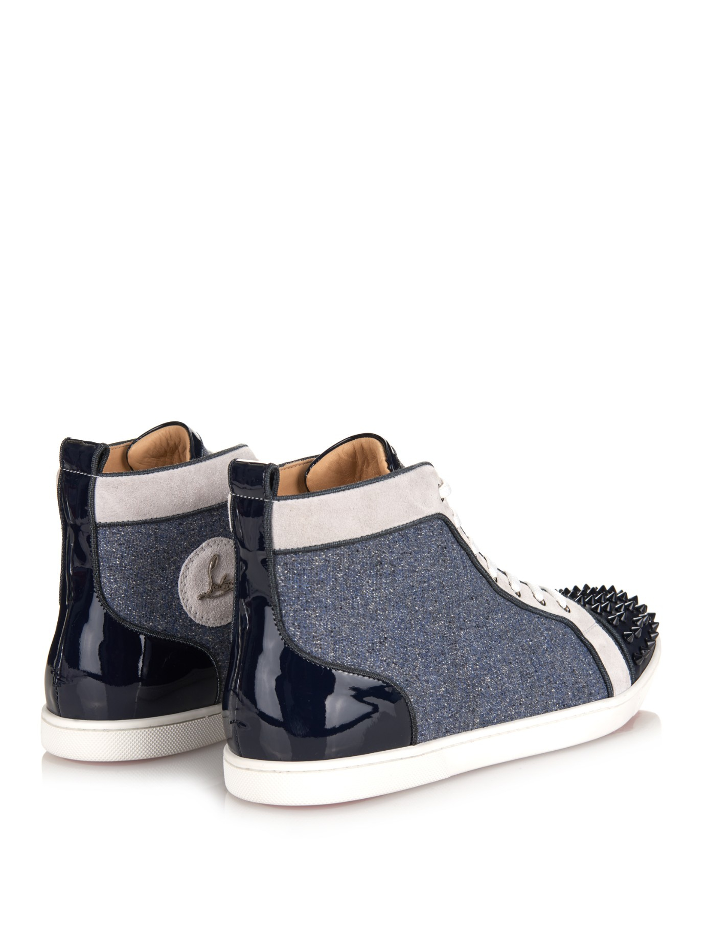 louis vuitton men sneakers - Christian louboutin Bip Bip Orlato Spiked High-Top Sneakers in ...