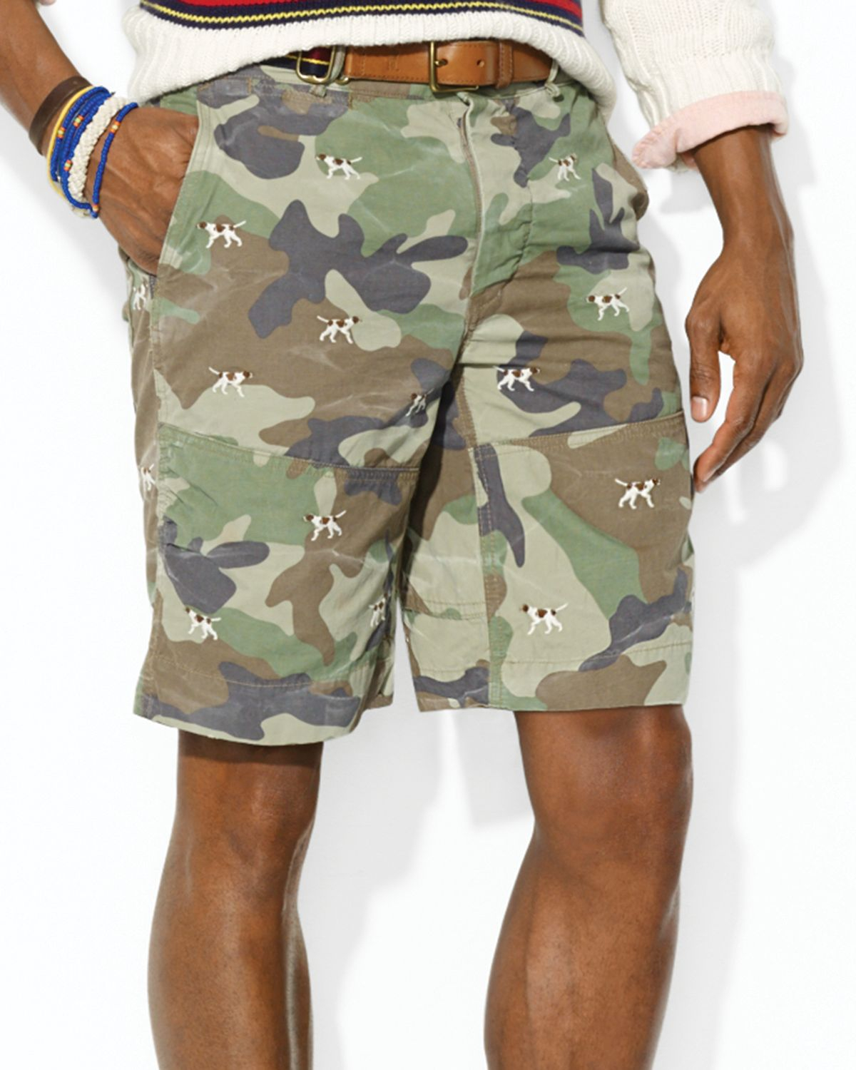 Ralph lauren Polo Embroidered Camo Hunting Shorts Classic Fit for ...