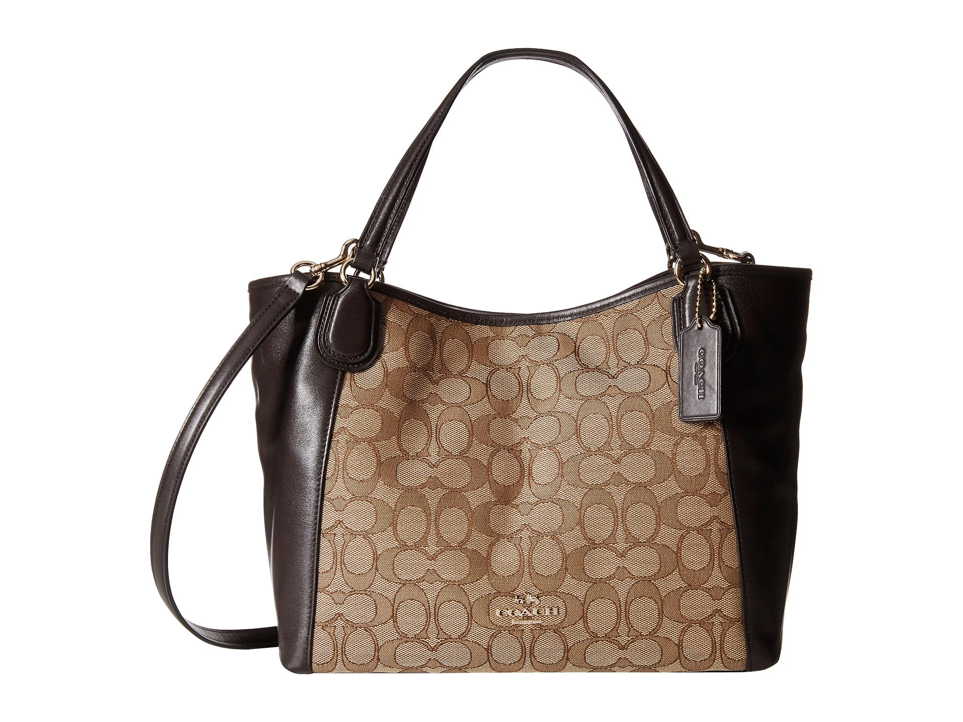 6958d0c0a ... ebay lyst coach signature edie 28 shoulder bag in brown 11d0c 916a8