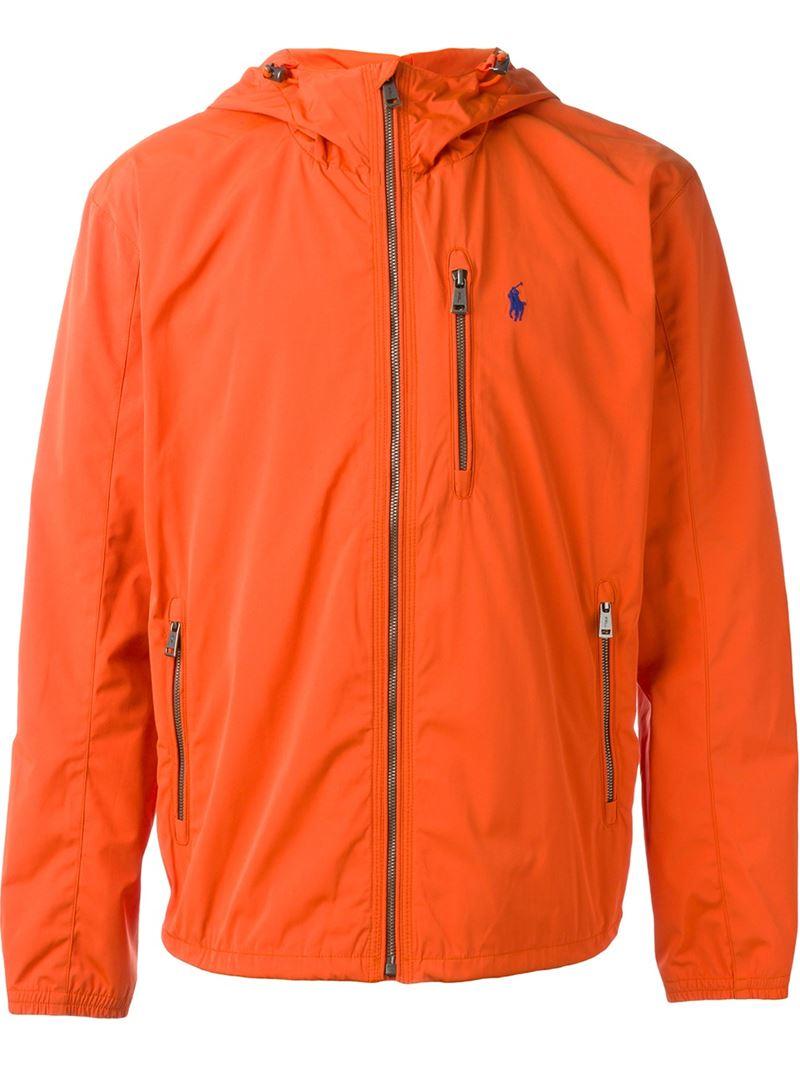 Orange polo jacket