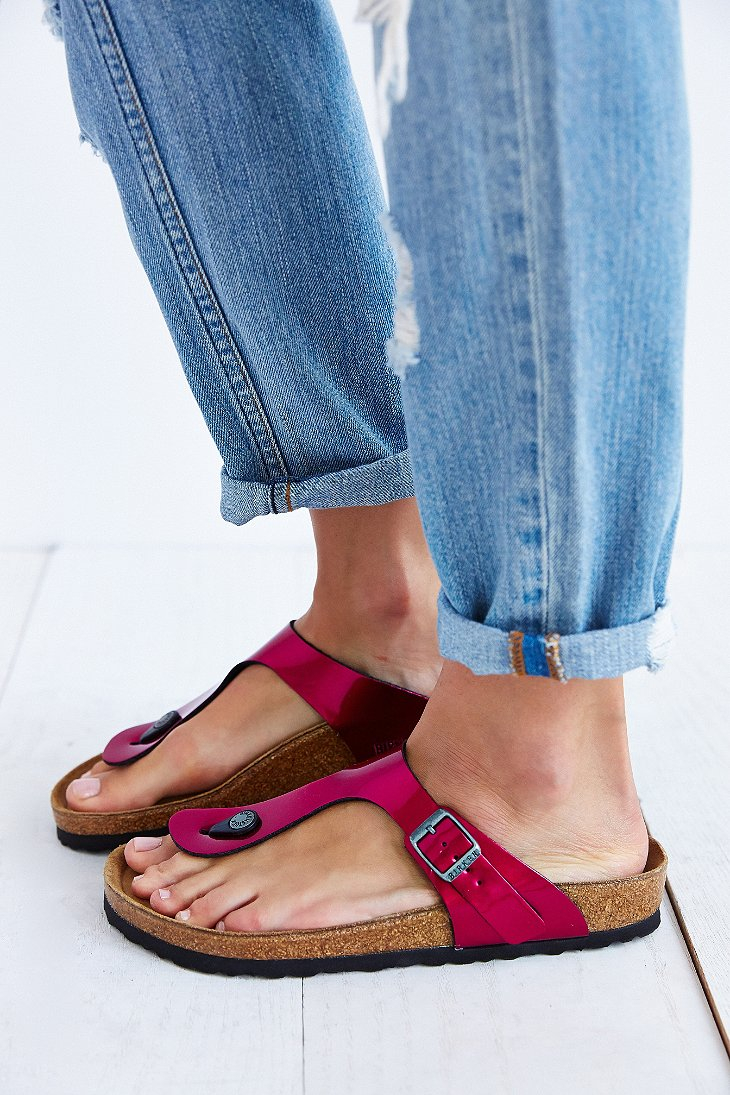 ccf38a42f9a6 Lyst - Birkenstock Gizeh Thong Sandal in Pink