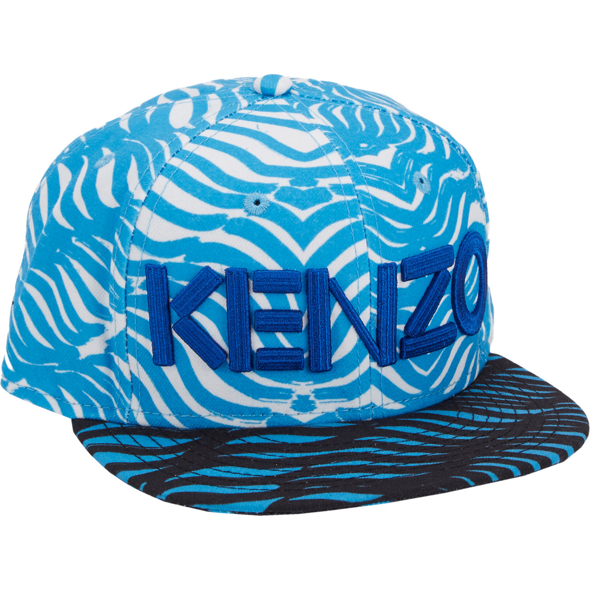 efcab987d9b Kenzo New Era Graph Check And Palm Leaf-Print Fitted Baseball Cap in ...