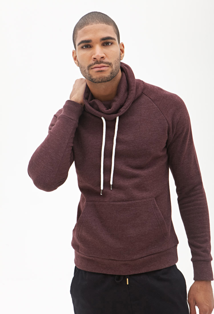 Forever 21 Cowl Neck Sweatshirt In Purple For Men Lyst