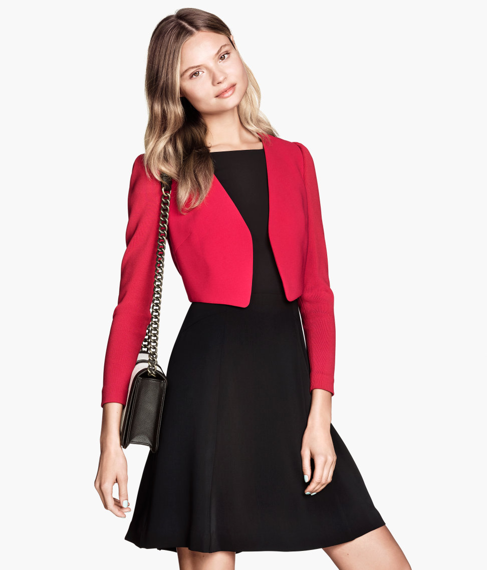 H&m Short Jacket in Red