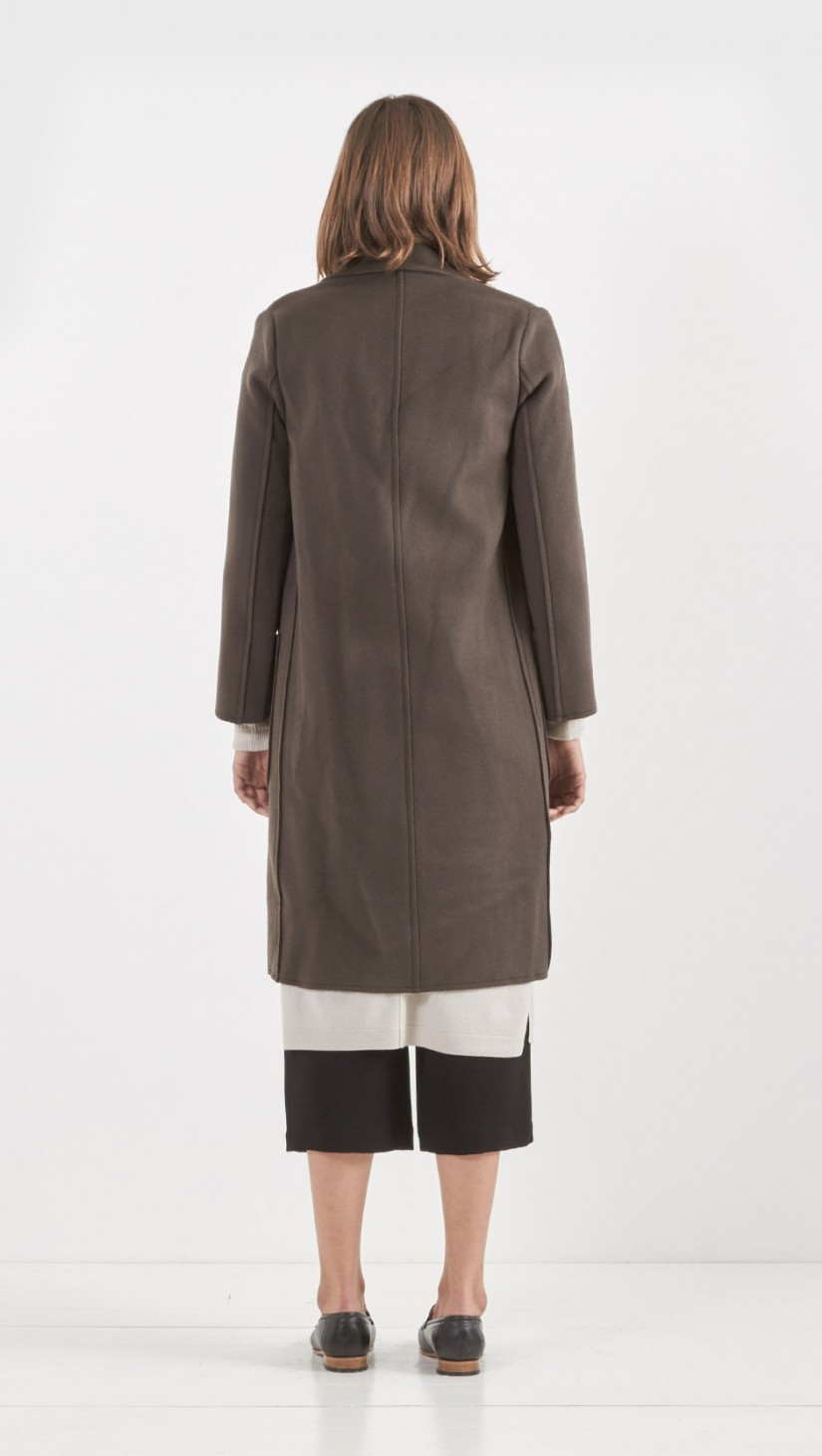 Helmut lang Cashmere Blend Coat in Brown | Lyst