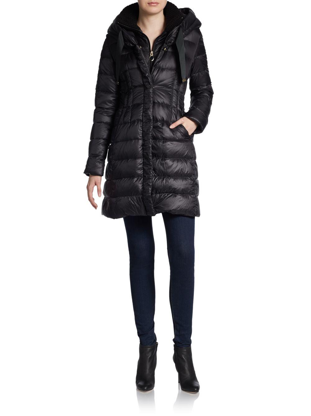 T Tahari Olivia Down Puffer Coat In Black Lyst