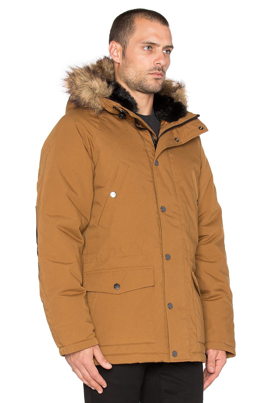 6099a24eeb4 Carhartt WIP Brown Trapper Faux Fur Parka for men