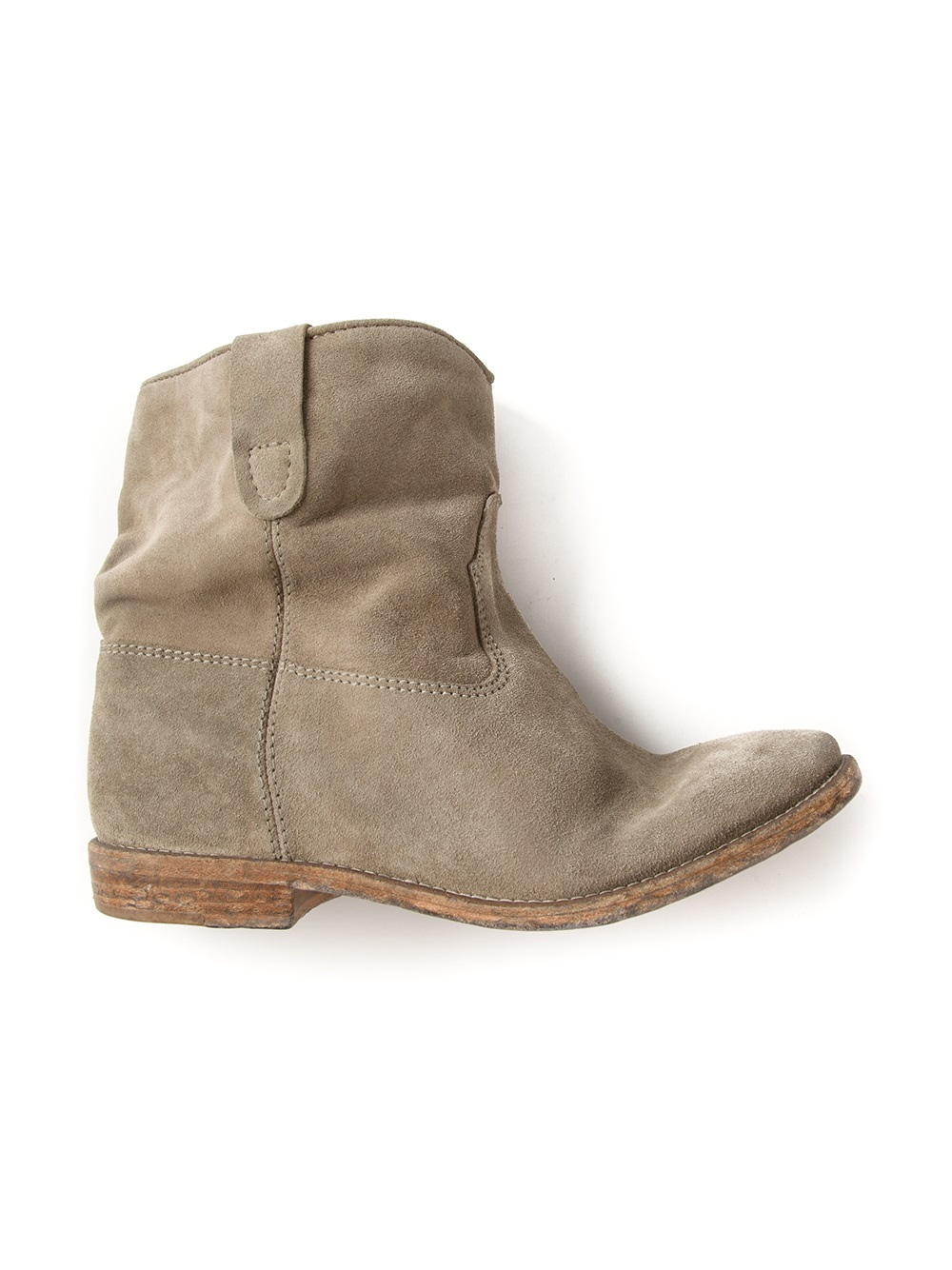 marant cowboy ankle boot in gray grey lyst