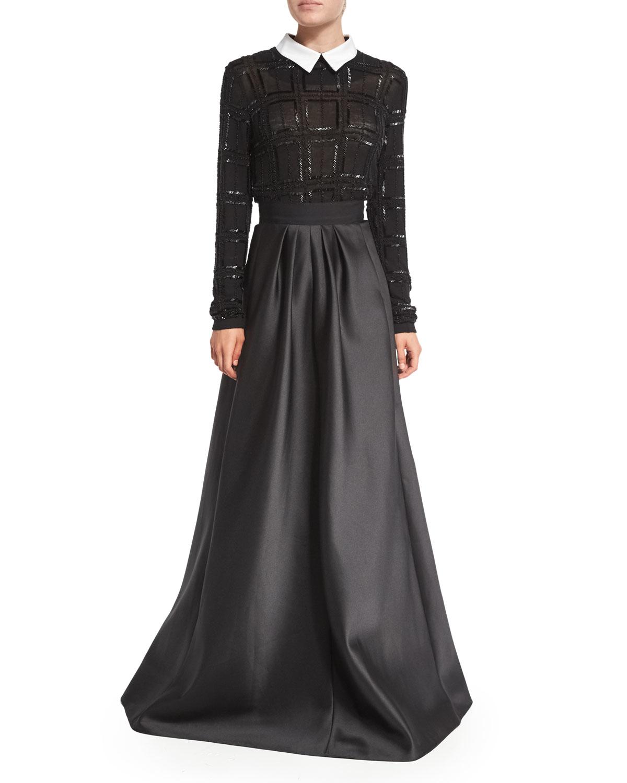 Satin Skirt Long 8