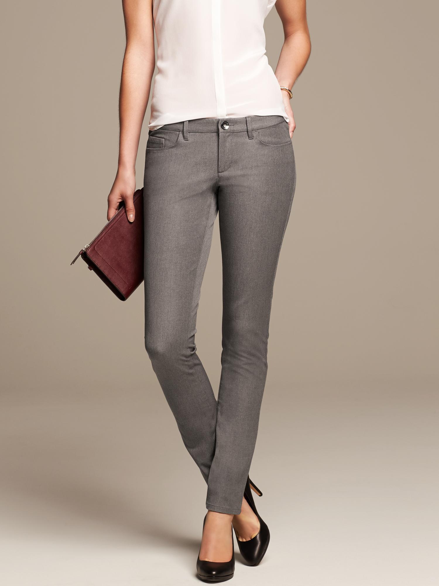 Banana Republic Sloan Fit Gray Skinny Pant in Gray Rich
