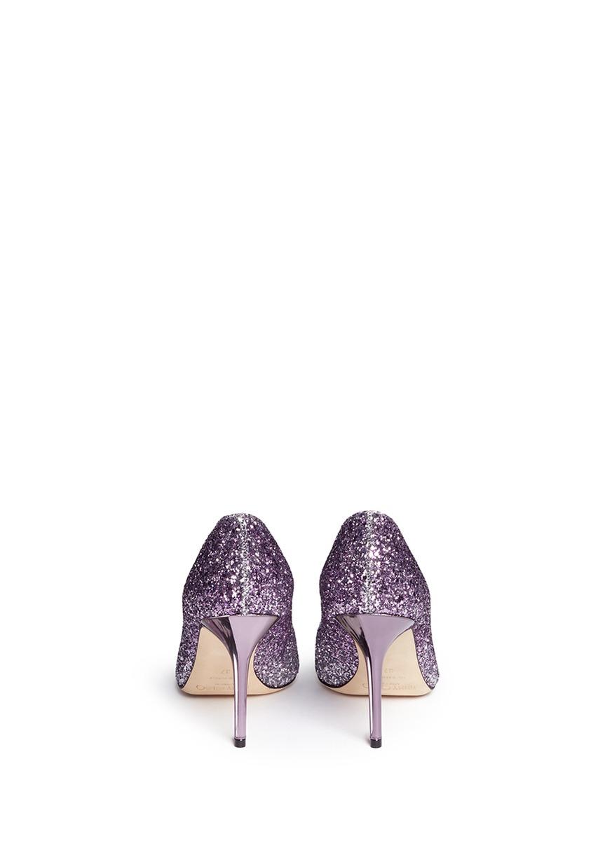 30c758113992 Jimmy Choo Dégradé Glitter Pumps in Purple - Lyst