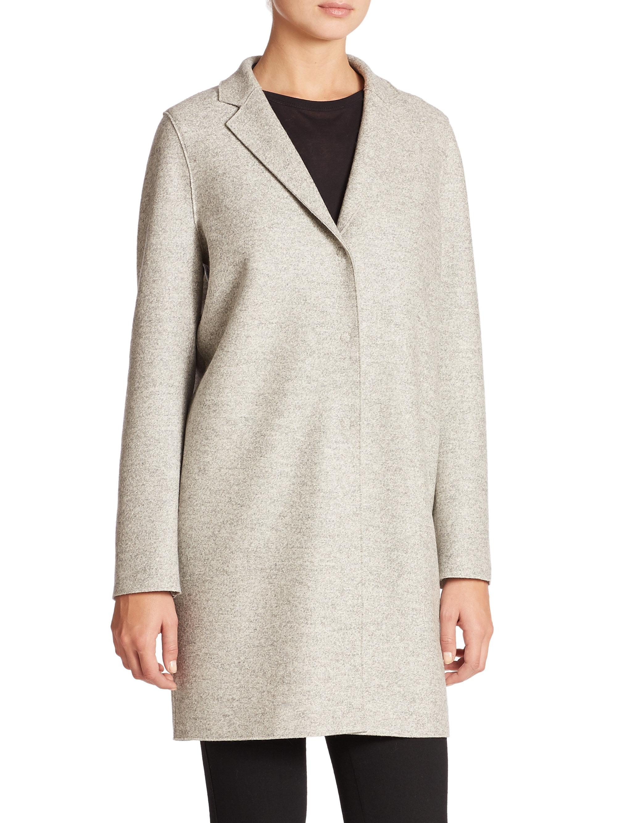 harris wharf london wool cocoon coat in gray ash moulin lyst. Black Bedroom Furniture Sets. Home Design Ideas