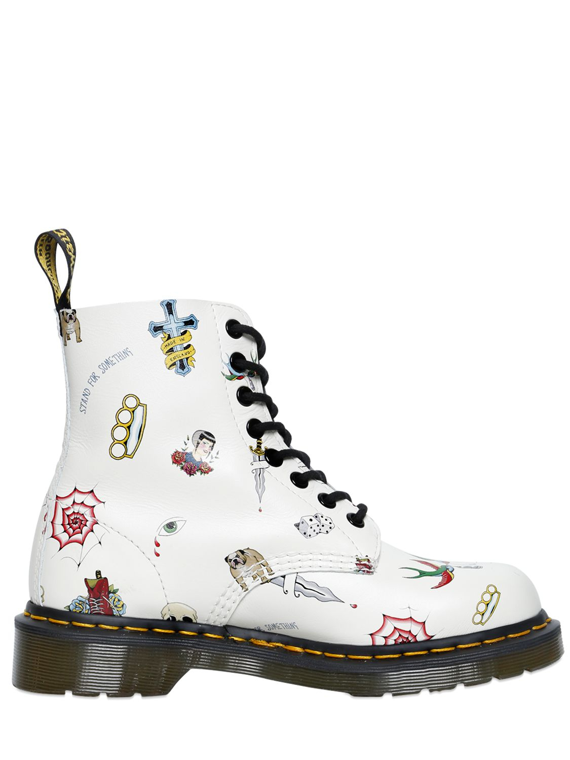 Dr. Martens 30mm Tattoo Leather in White for Men