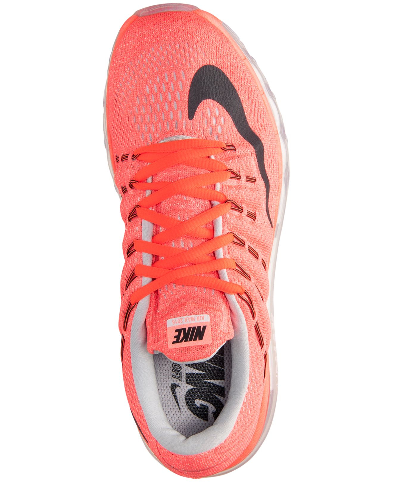 huge selection of a9167 96643 ... Nike Women s Air Max 2016 Running Sneakers From Finish Line in Orange    Lyst ...