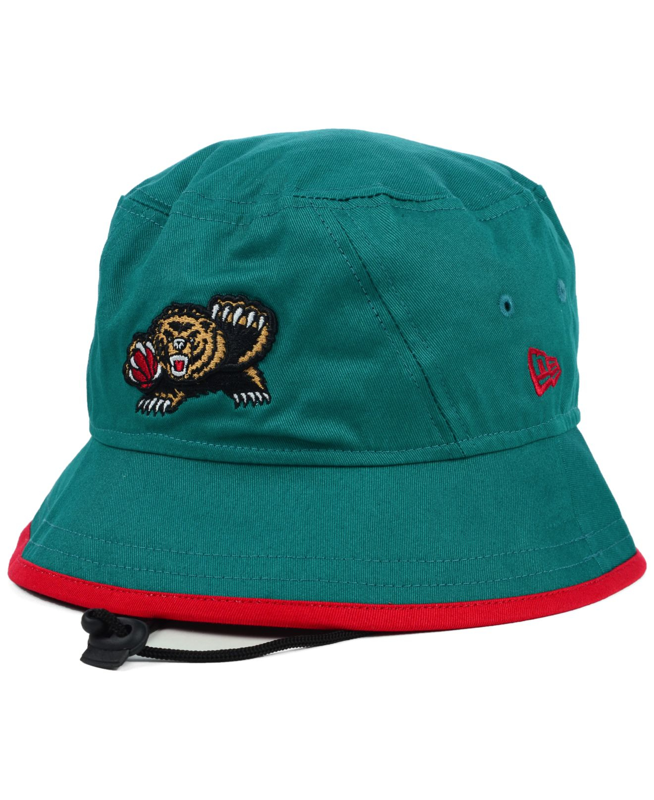 388be43dc93e5c ... canada lyst ktz vancouver grizzlies hardwood classics basic tipped  bucket hat in blue for men 38e81 ...