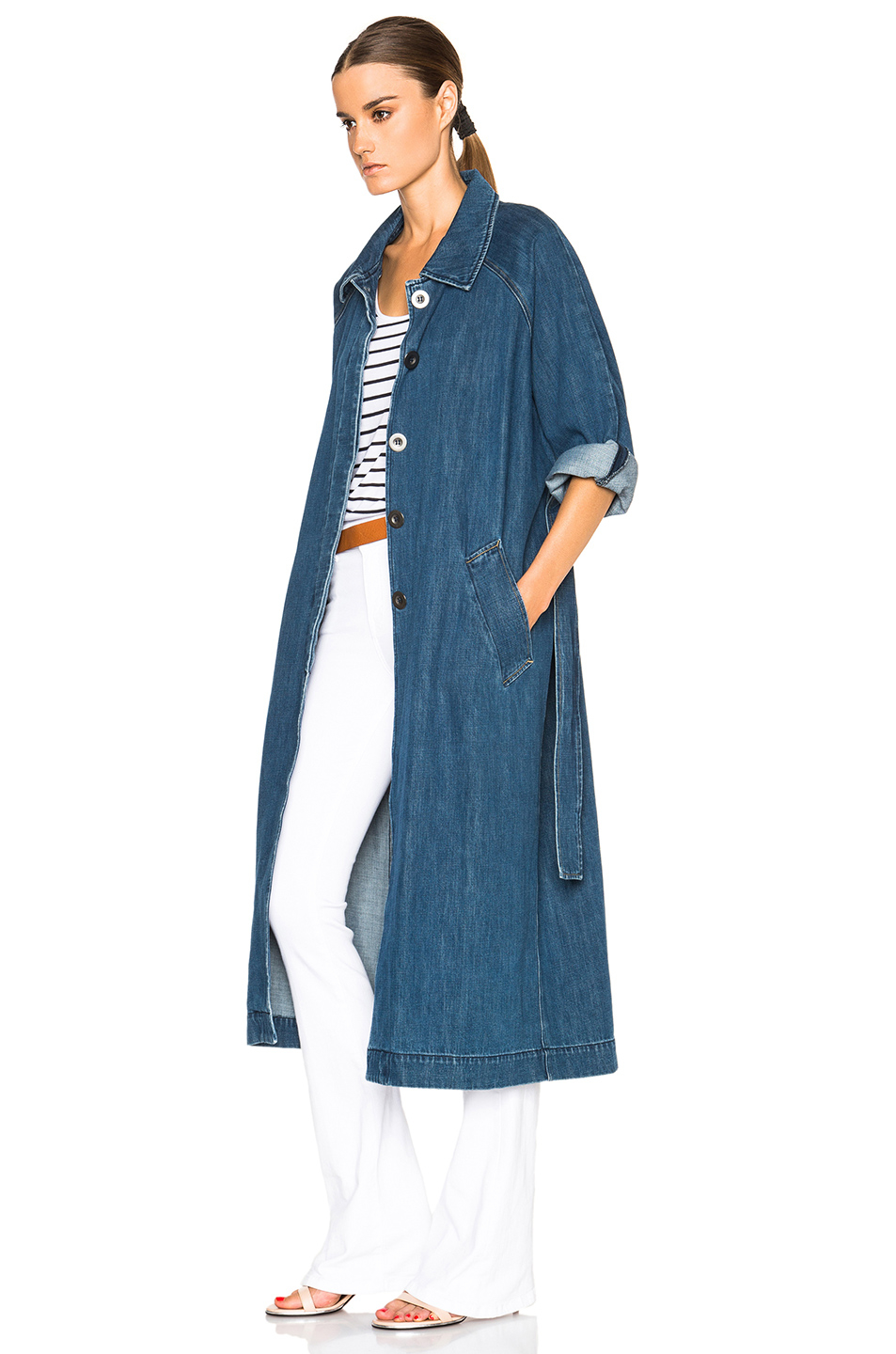M.i.h jeans Raglan Denim Coat in Blue | Lyst