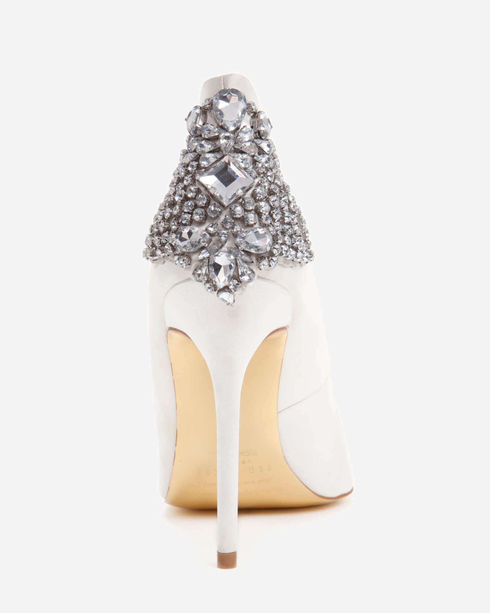 95e03e726 Lyst - Ted Baker Embellished Court Shoes in White
