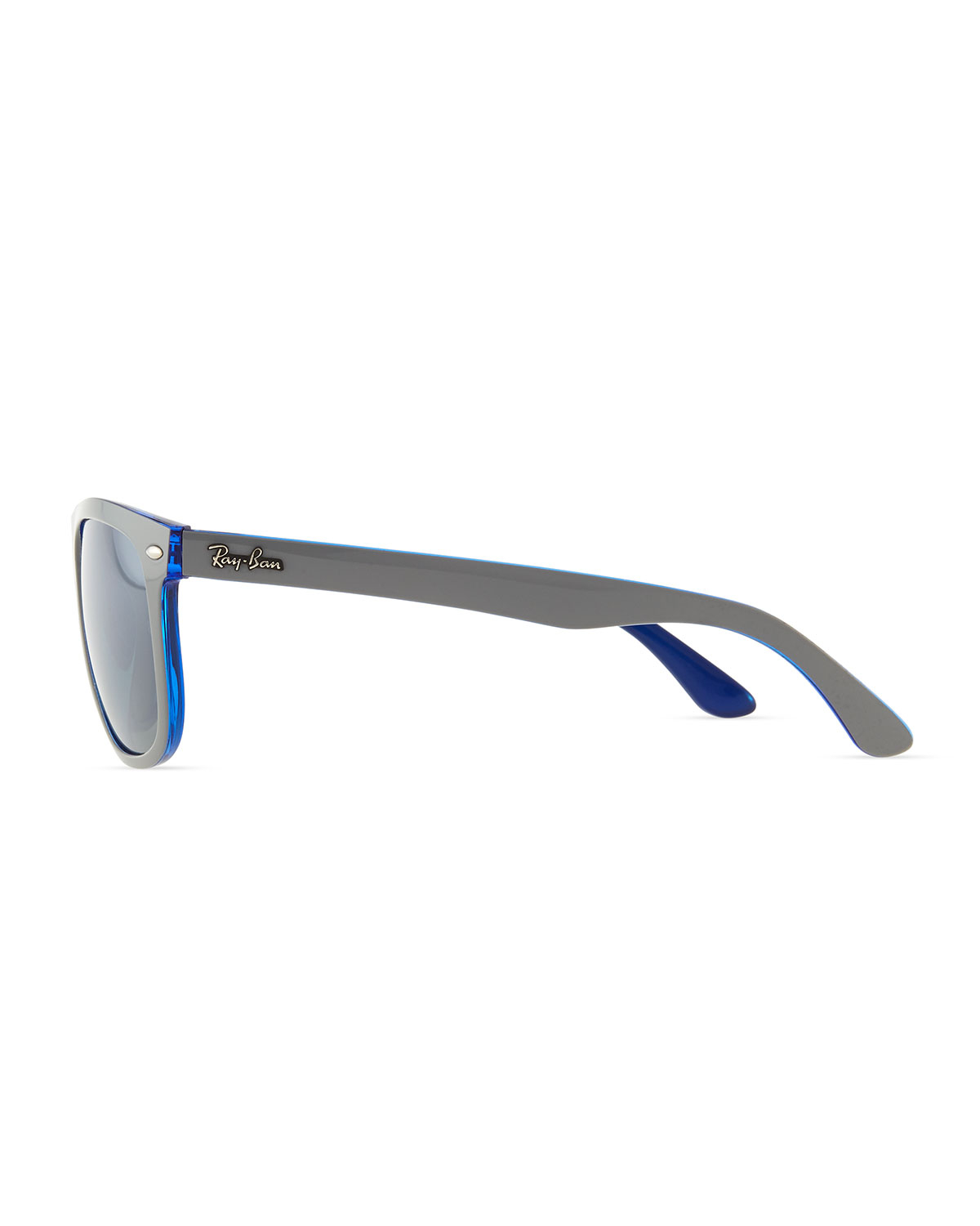 3c93fff90a Lyst - Ray-Ban Highstreet Mirror Shield Sunglasses Bluegray in Gray