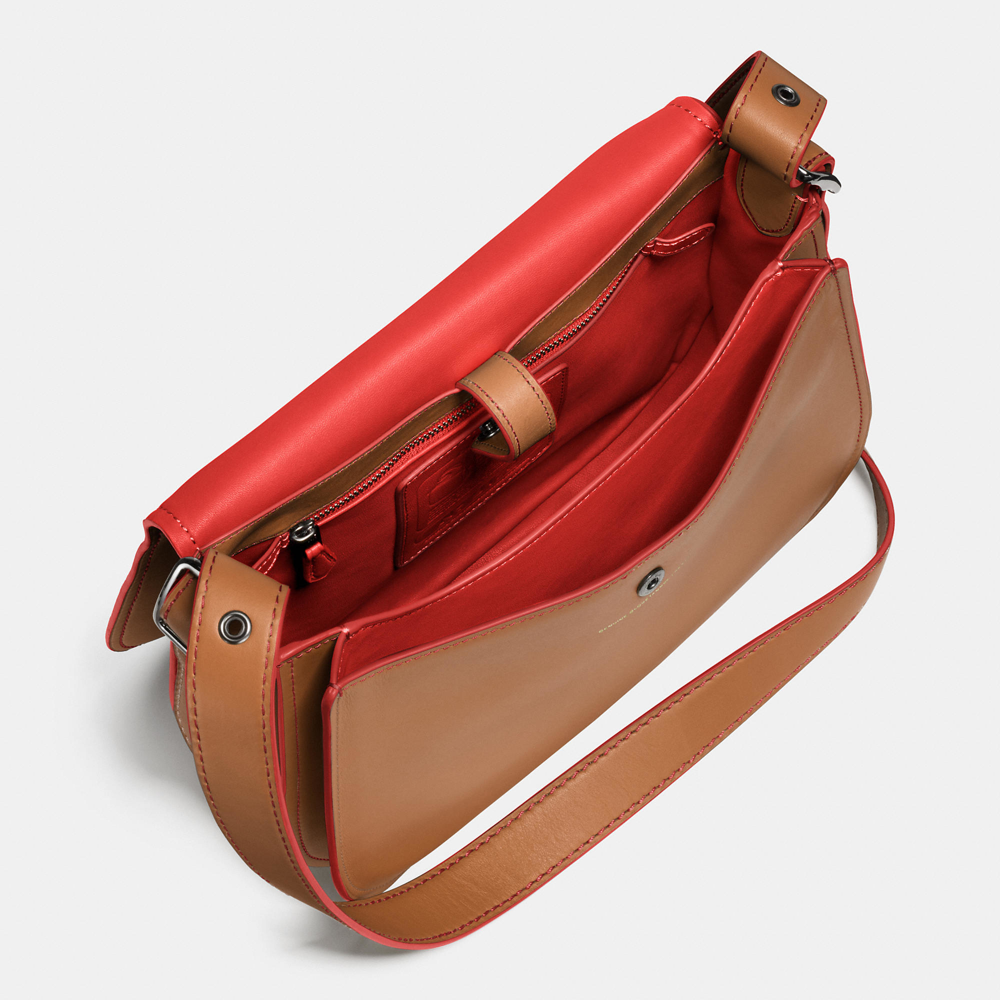 Lyst - Coach Saddle Bag In Glovetanned Leather in Brown Saddle Bag