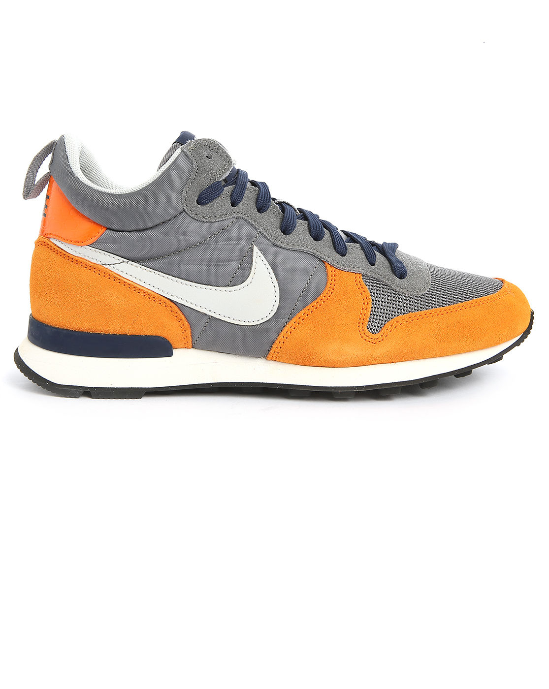 Nike Camel And Grey Suede And Mesh Mid-Top ...