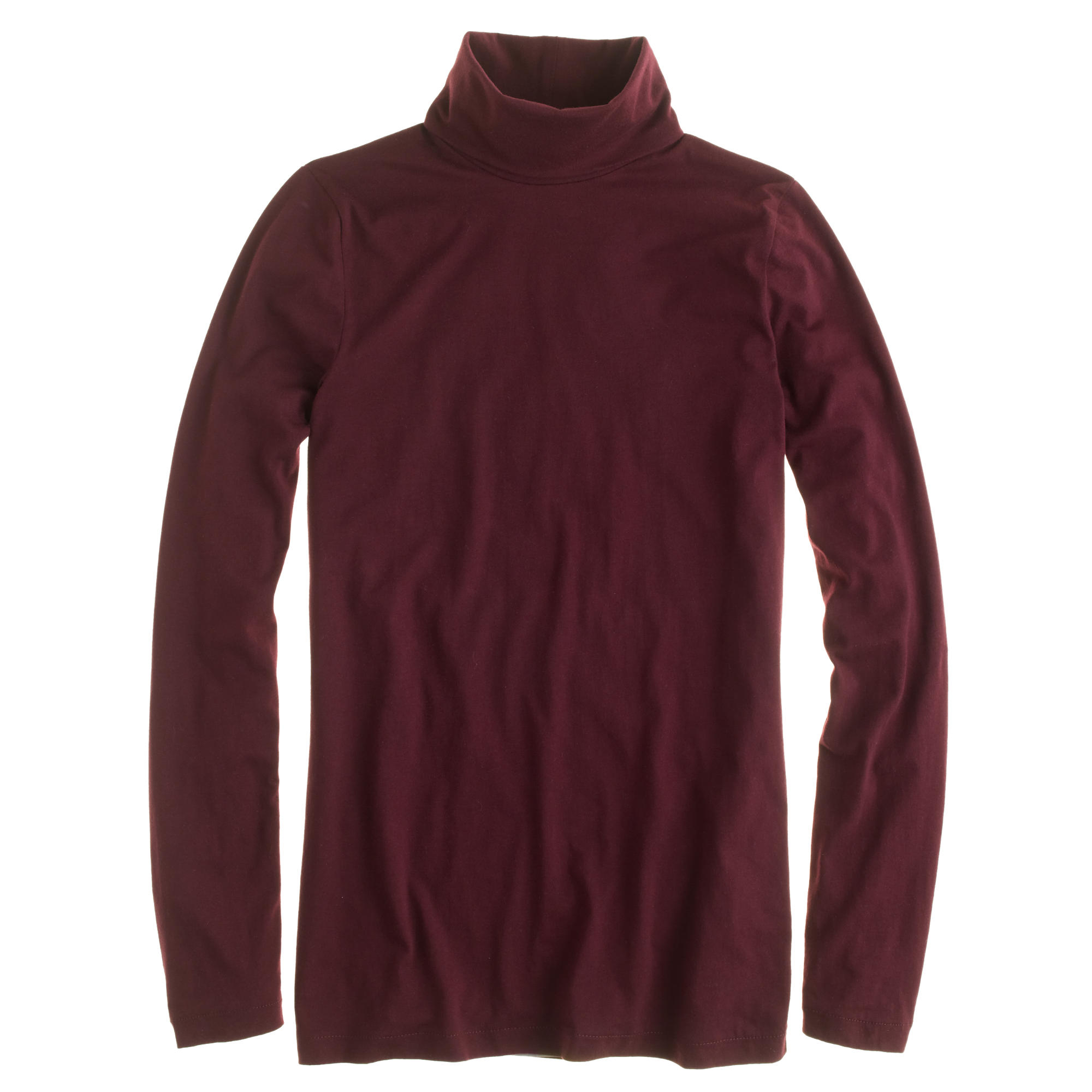 J Crew Tissue Turtleneck T Shirt In Purple Lyst
