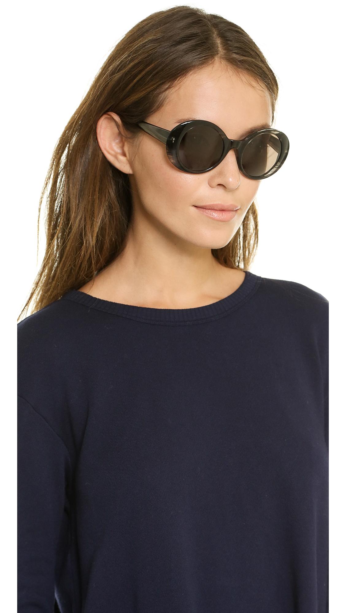 lyst elizabeth and james boylston polarized sunglasses black smoke brown mono in black. Black Bedroom Furniture Sets. Home Design Ideas