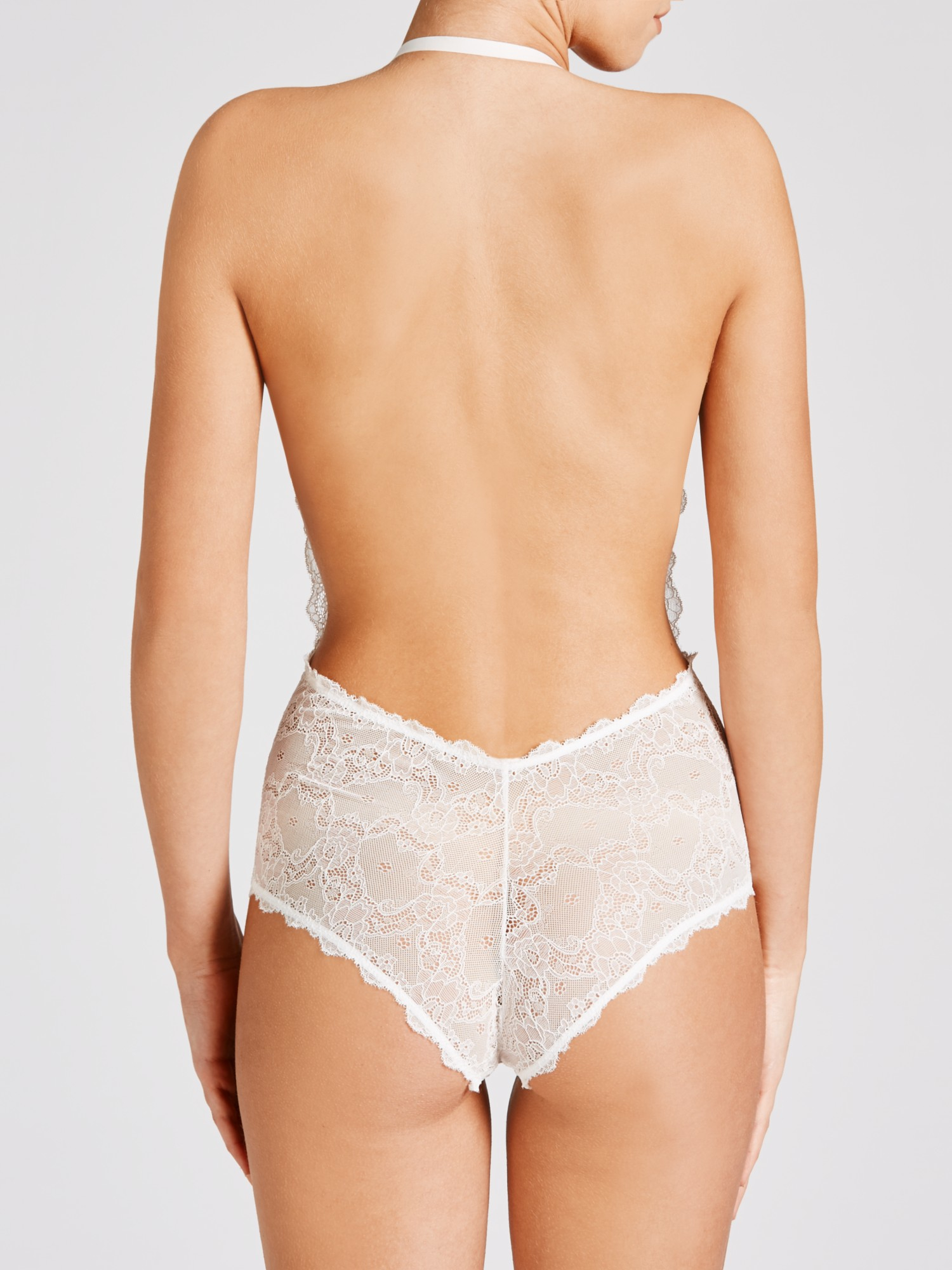 Fashion Forms Lace Strapless Bodysuit In White Lyst