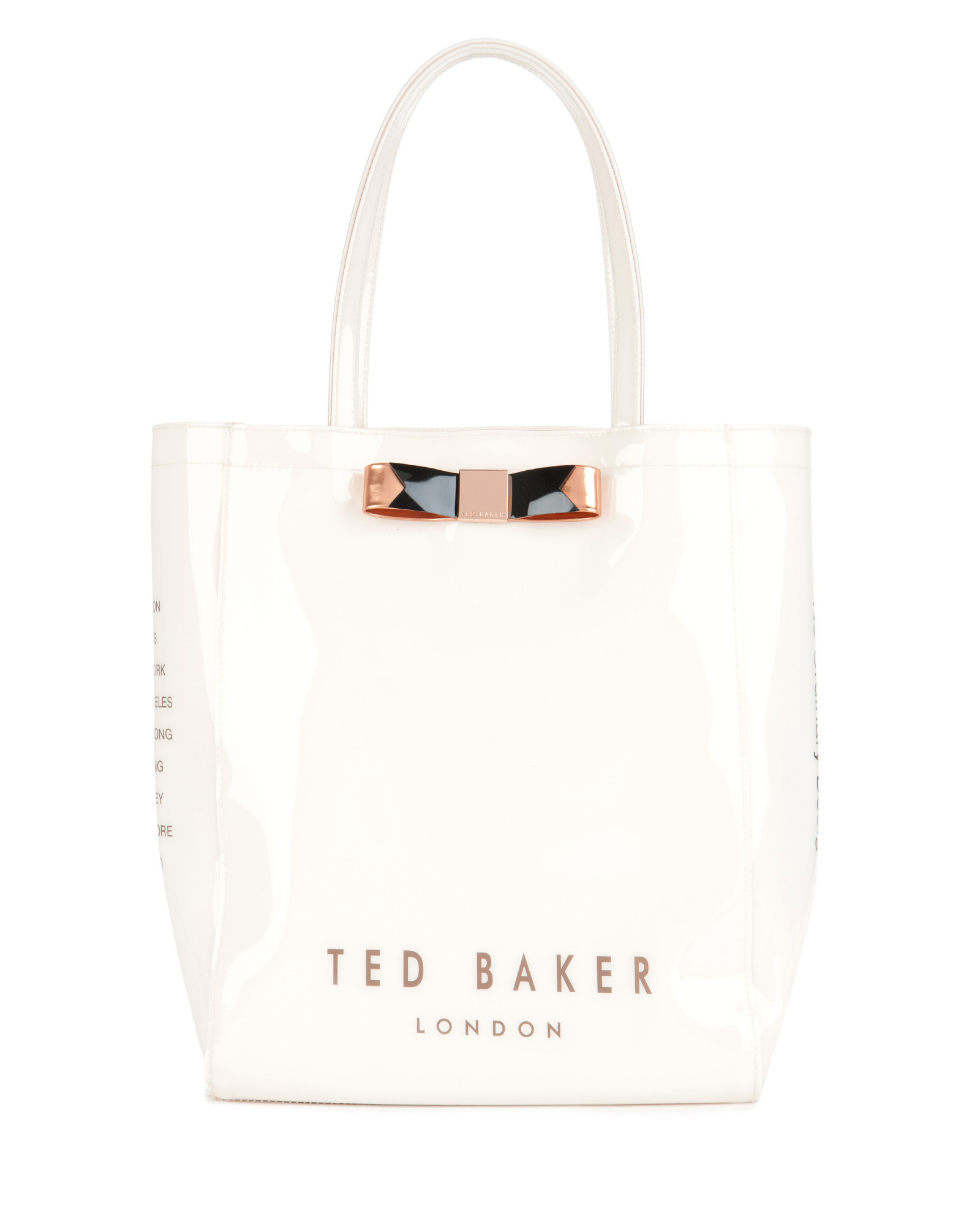 ted baker bow shopper bag in natural lyst. Black Bedroom Furniture Sets. Home Design Ideas