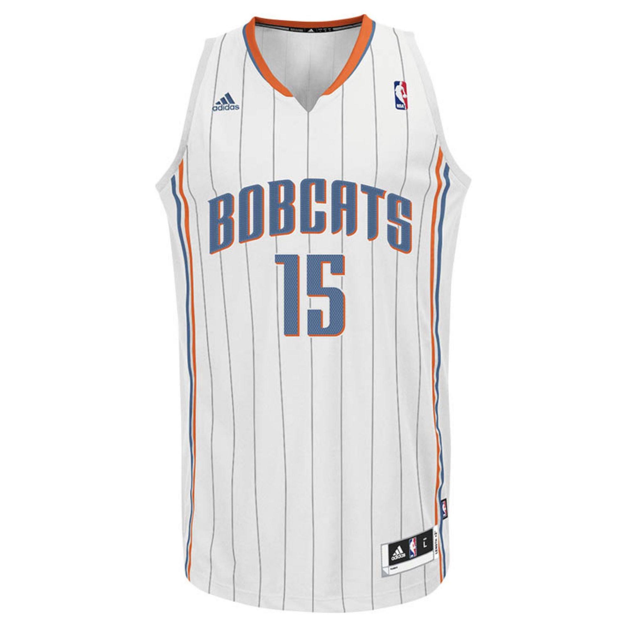 sports shoes 2d990 6ae5f White Mens Charlotte Bobcats Kemba Walker Jersey