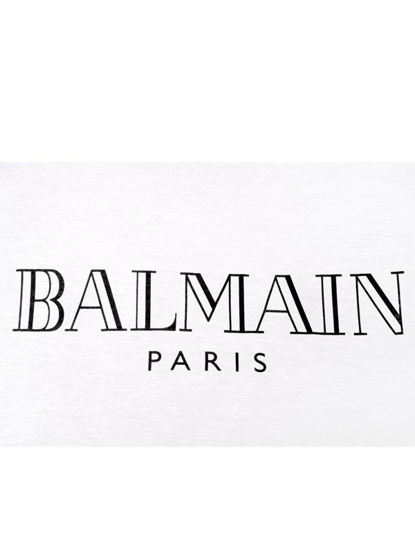 Balmain Logo Printed Cotton T-shirt in White