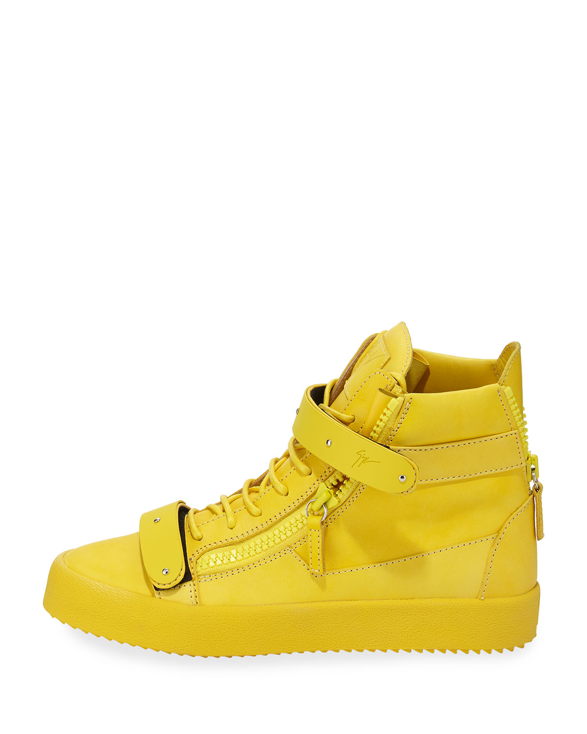 Double-strap Leather High-top Sneaker