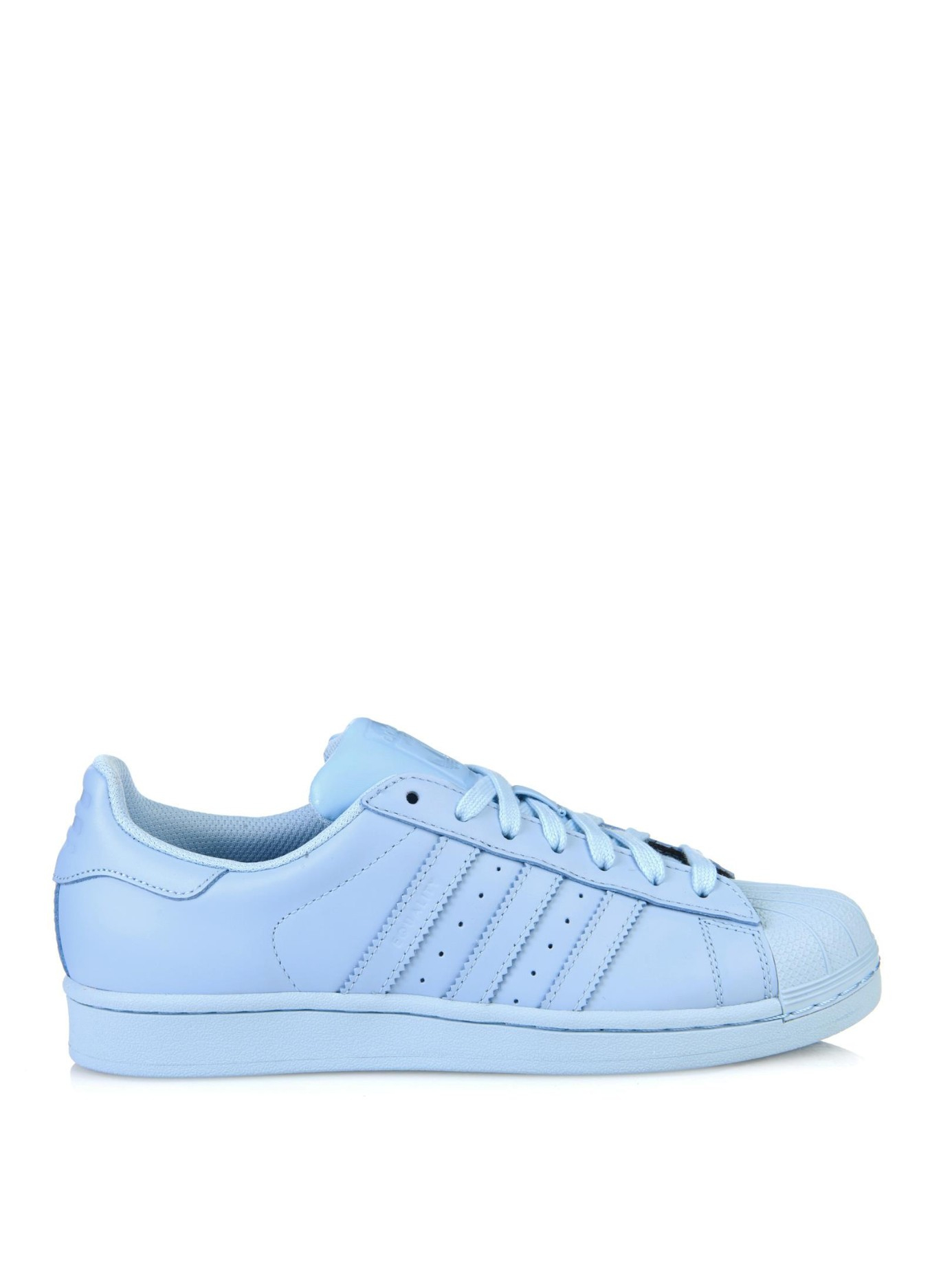 Adidas Superstar Supercolor Leather Trainers In Blue Lyst