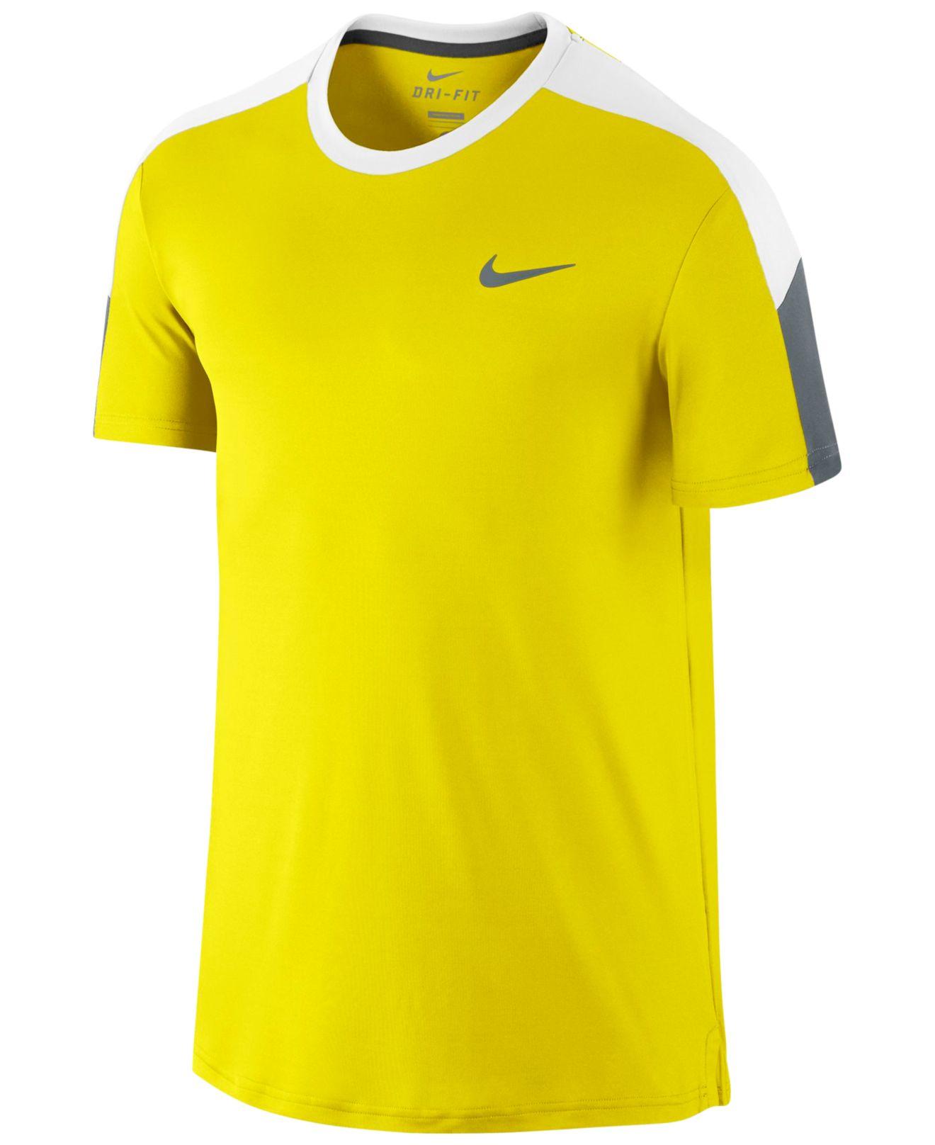 Lyst Nike Men 39 S Team Court Dri Fit Tennis T Shirt In