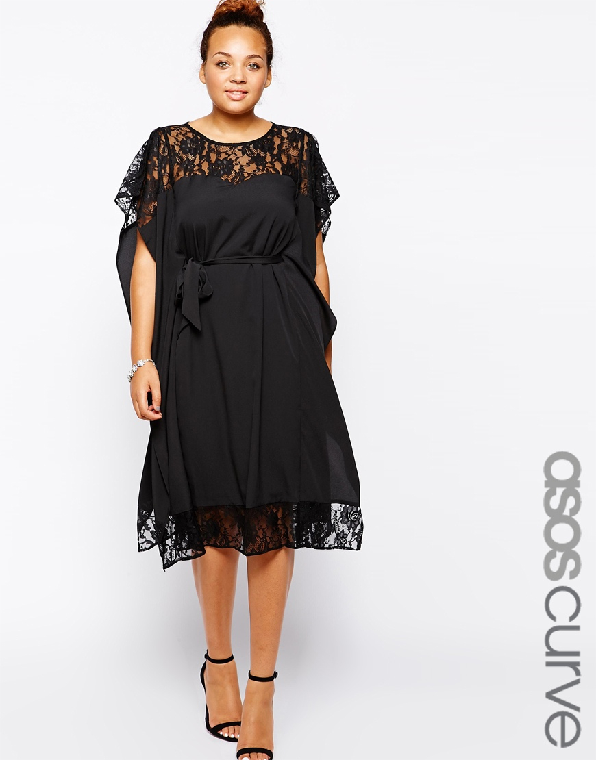 Asos black kimono dress