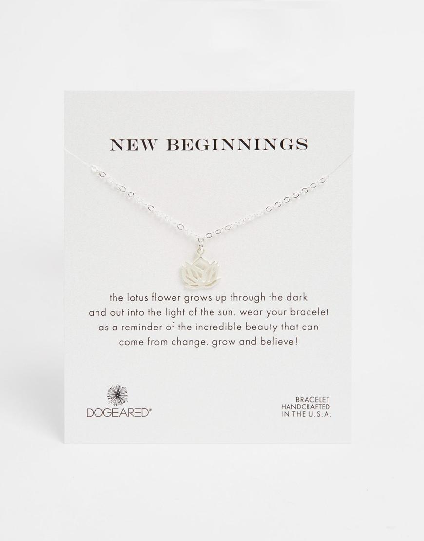Lyst Dogeared Sterling Silver New Beginnings Lotus Friendship