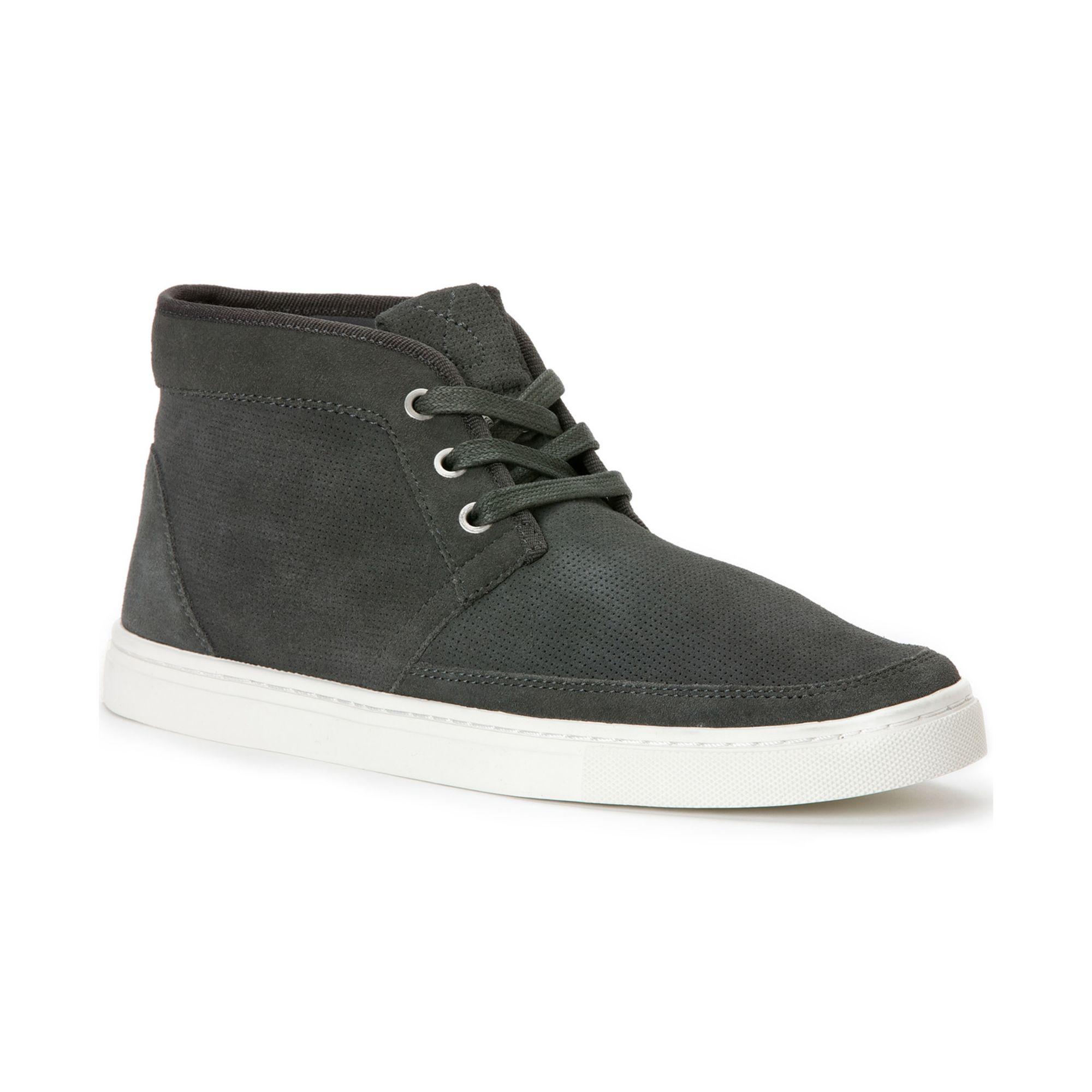 calvin klein hamlin suede boots in gray for