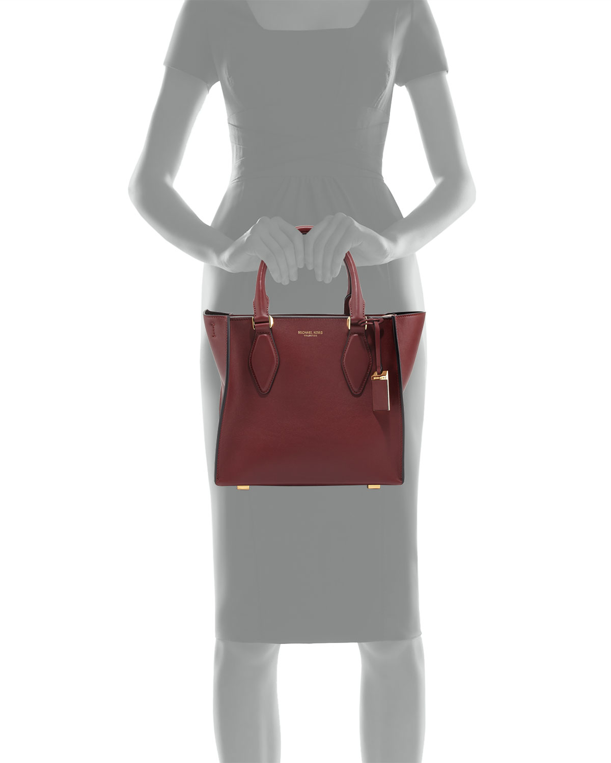 a69985902bf3 Michael Kors Gracie Medium Tote Bag in Red - Lyst