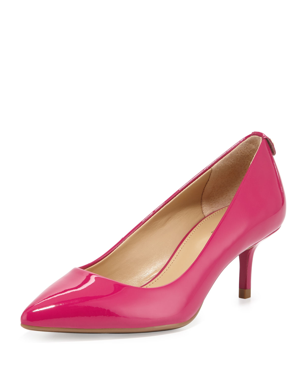 Fuschia Pink Kitten Heel Shoes